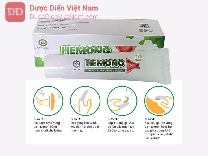 Cách sử dụng gel bôi trĩ Hemono