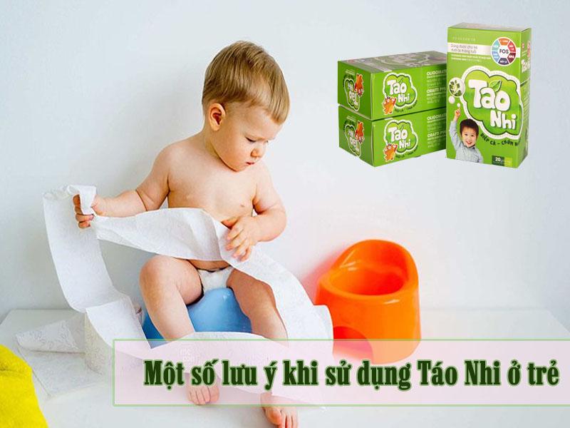 Lưu ý khi sử dụng Táo Nhi hỗ trợ giảm táo bón cho trẻ tại nhà