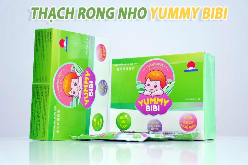 Thạch rong nho Yummy BiBi được nhiều chuyên gia dinh dưỡng đánh giá cao về hiệu quả sử dụng ở trẻ